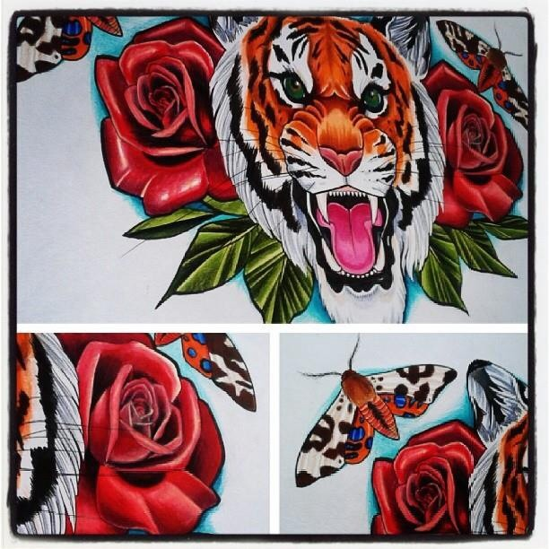 Pet portrait hannah calavera tattoos bristol for Painkillers before tattoo