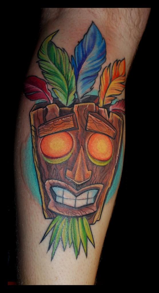 Akuaku hannah calavera tattoos oxford for Crash bandicoot tattoo